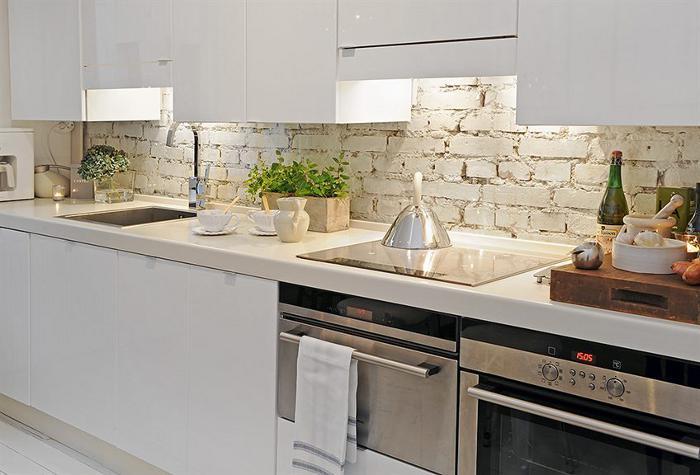 Paredes interiores con ladrillo a la vista decoradoras - Cocina de ladrillo ...