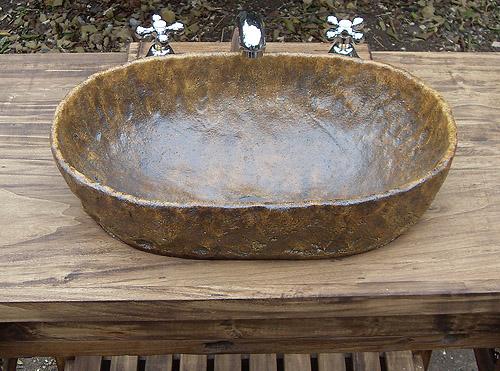 Bachas Para Baño Con Pie:un modeloâ rãºstico y sencillo adecuado para muebles de campo