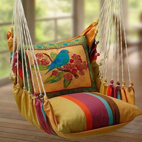 Adorables sillas columpio decoradoras decocasa for Silla columpio