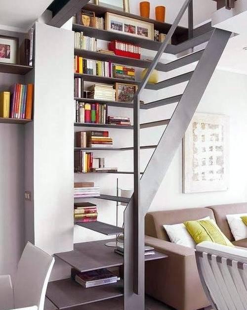 Escaleras de dise o novedoso decoradoras decocasa - Escaleras para bibliotecas ...