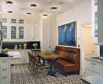 Mesa y bancos en la cocina decoradoras decocasa - Bancos para cocinas ...