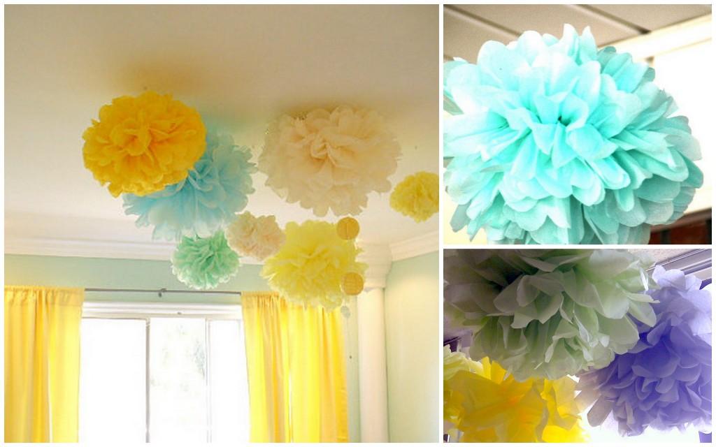 Pompones por toda la casa decoradoras decocasa - Papel para techos ...
