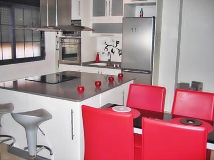 cocinas en blanco y rojo - Cocinas Rojas Y Blancas