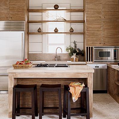 Cocinas campestres en tonos claros decoradoras decocasa for Disenos de cocinas campestres