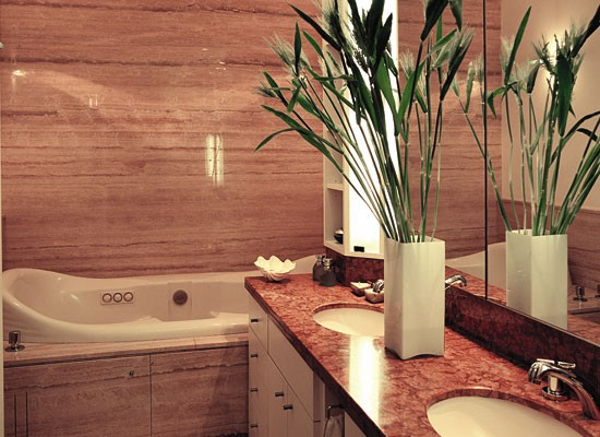 Bachas Para Baño Modernas: bacha alargada que sirve para los dos usuarios del baño Para
