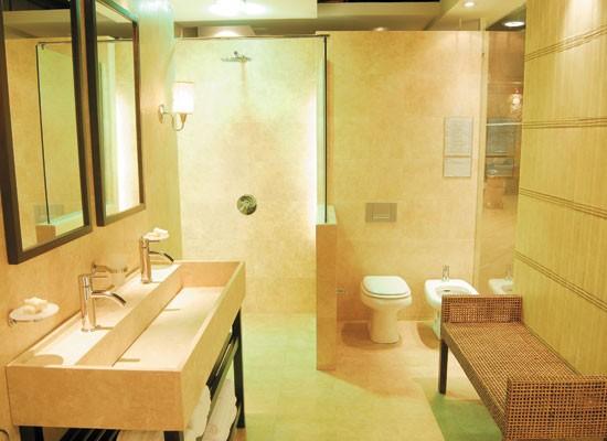 Bachas Para Baño Bajo Mesada: bacha alargada que sirve para los dos usuarios del baño Para