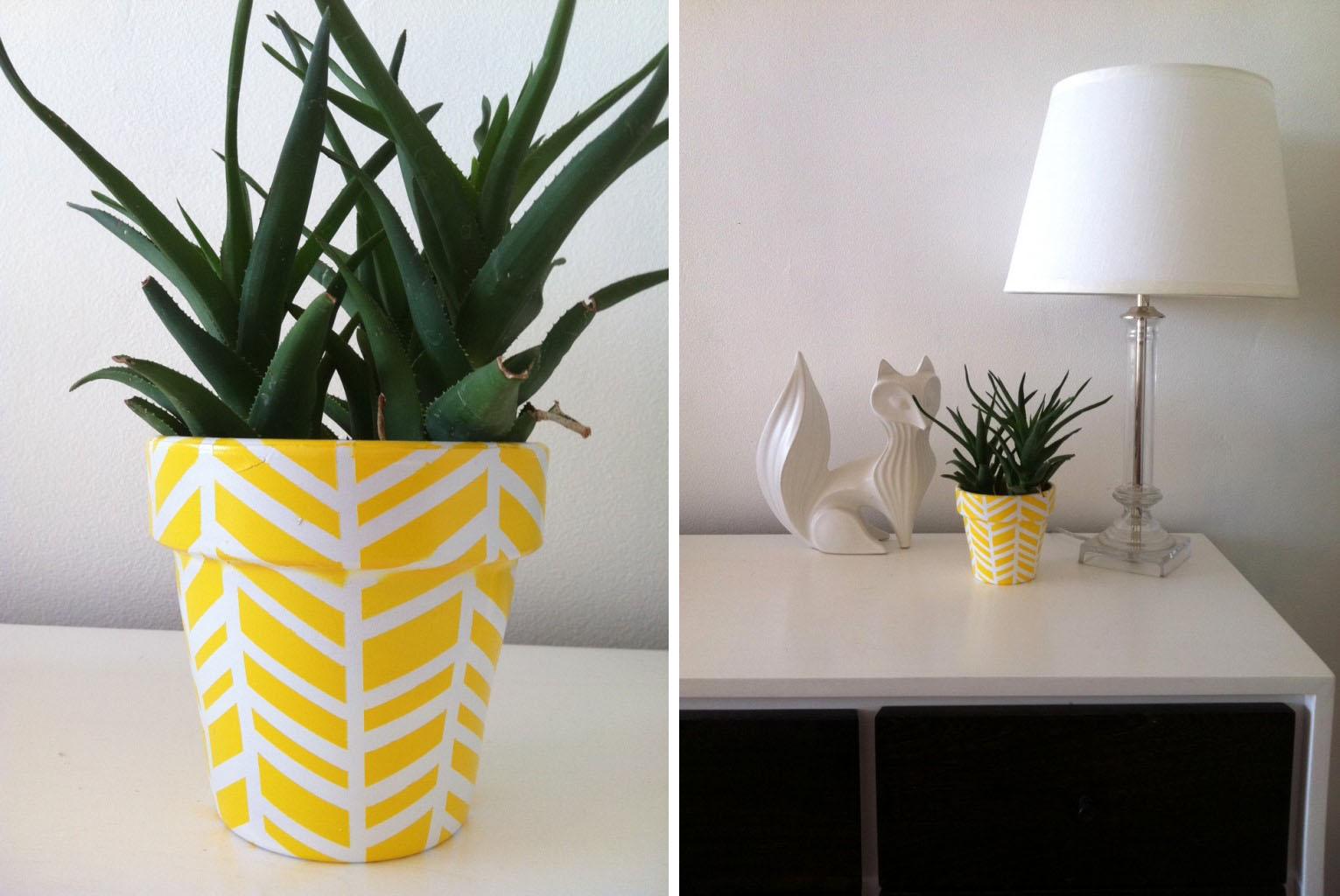 A reciclar macetas con pintura decoradoras decocasa - Ideas para decorar macetas ...