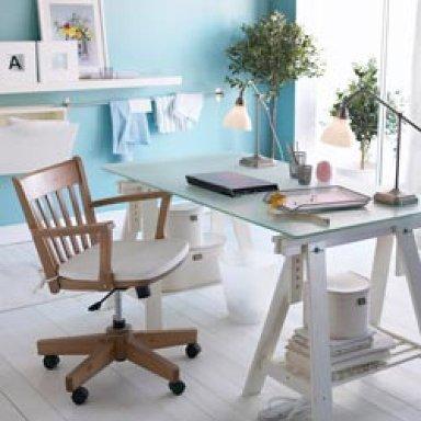 Escritorios improvisados decoradoras decocasa - Caballetes para mesas ...