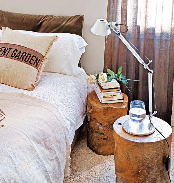 Dormitorios mesas de noche originales decoradoras decocasa - Mesas de noche rusticas ...