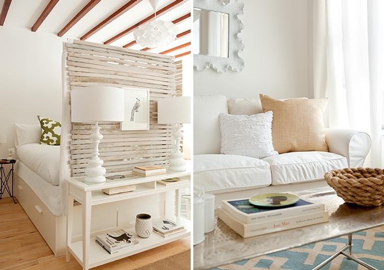 Decoidea para separar un monoambiente decoradoras decocasa for Living pequenos espacios