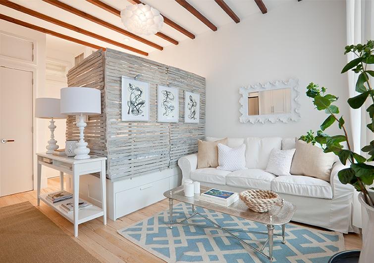 Decoidea para separar un monoambiente decoradoras decocasa for Living para espacios pequenos