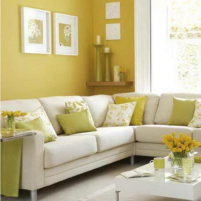 Detalles de color en el living decoradoras decocasa for Colores para living