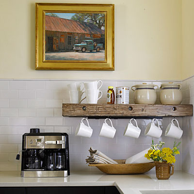 Repisas de madera en la cocina decoradoras decocasa for Cocinas enteras