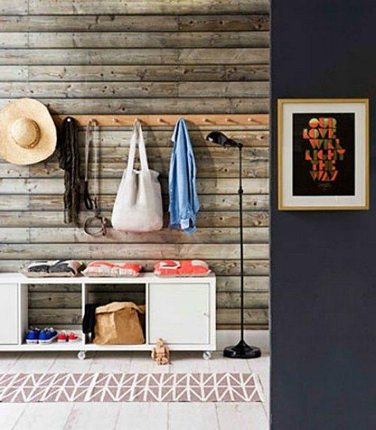 Recibidores r sticos y funcionales decoradoras decocasa - Recibidores originales reciclados ...