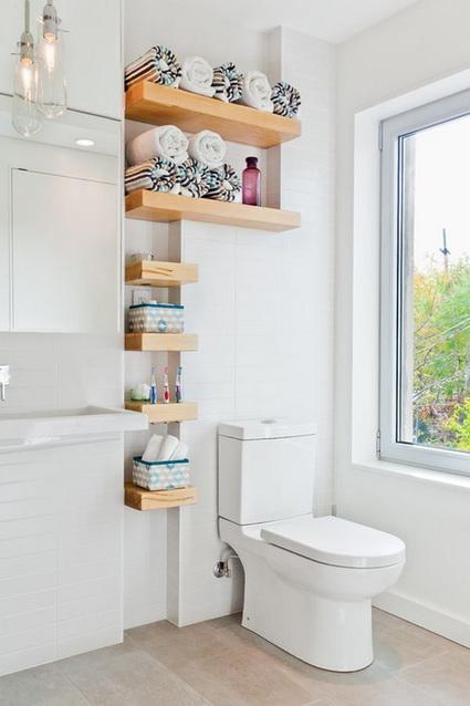 Ideas para almacenar en ba os peque os decoradoras decocasa - Estantes para banos pequenos ...